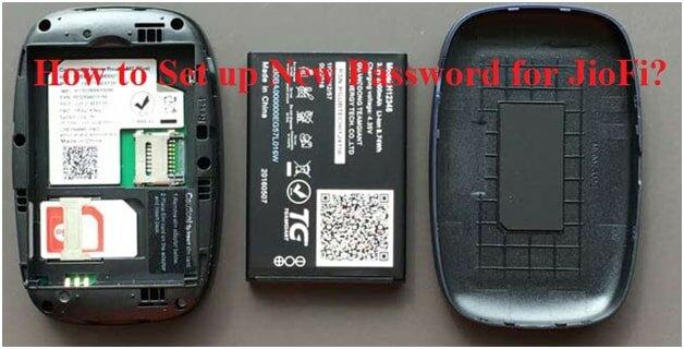JioFi password reset